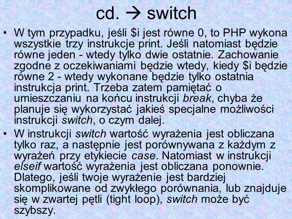 cd.  switch
