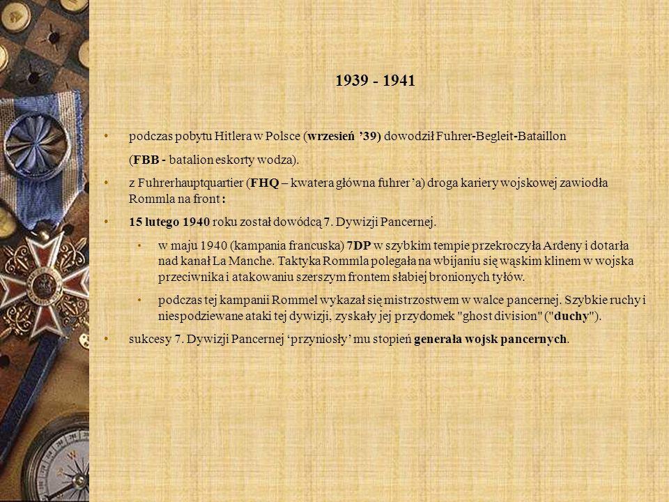 1939 - 1941 podczas pobytu Hitlera w Polsce (wrzesień '39) dowodził Fuhrer-Begleit-Bataillon. (FBB - batalion eskorty wodza).