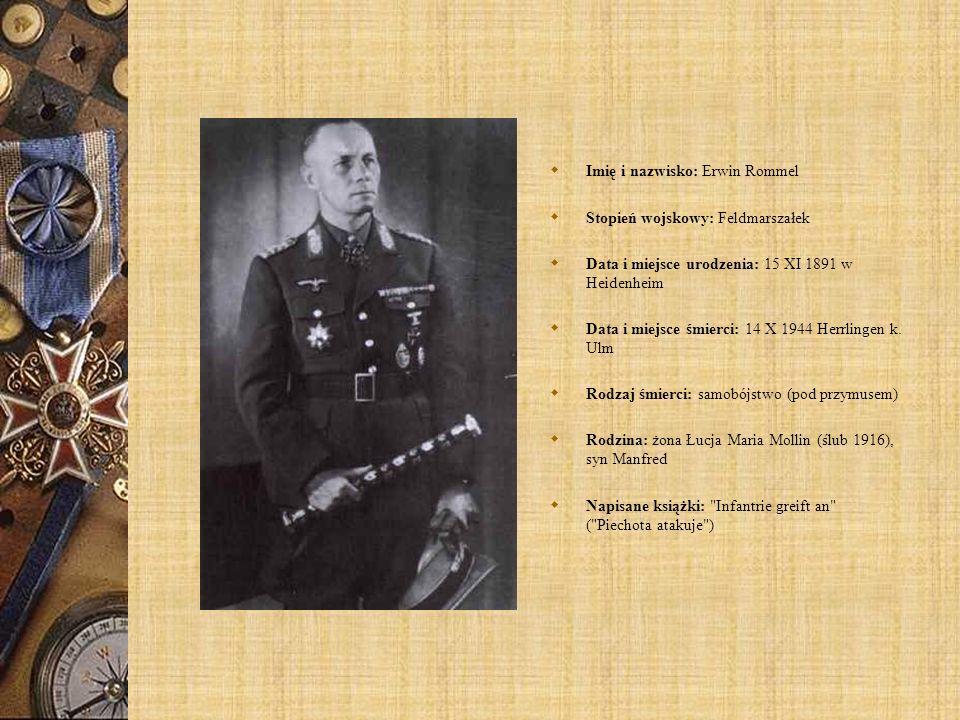 Imię i nazwisko: Erwin Rommel