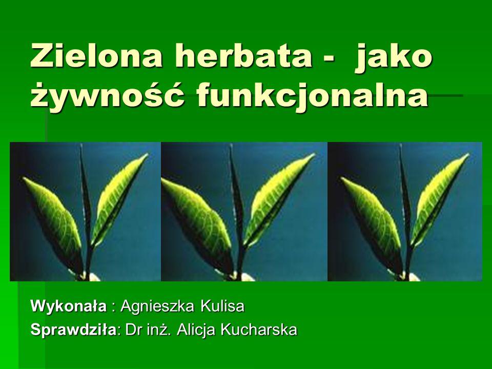 Zielona herbata - jako żywność funkcjonalna