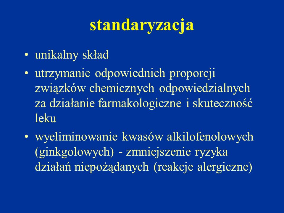 standaryzacja unikalny skład