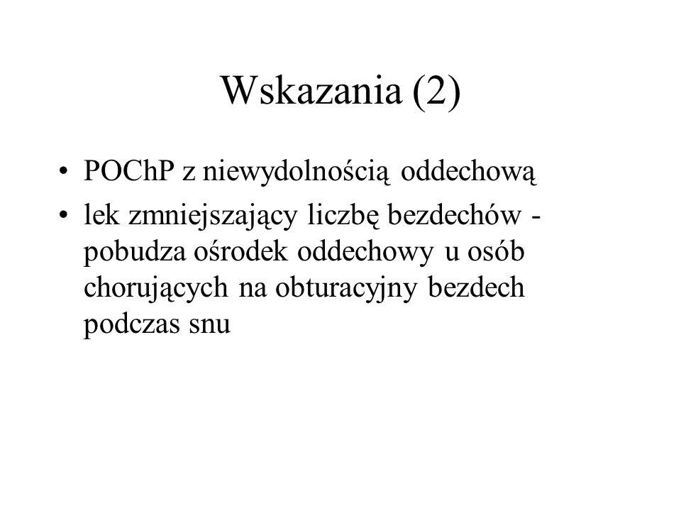 Wskazania (2) POChP z niewydolnością oddechową