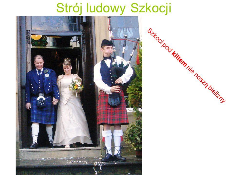 Strój ludowy Szkocji Szkoci pod kiltem nie noszą bielizny