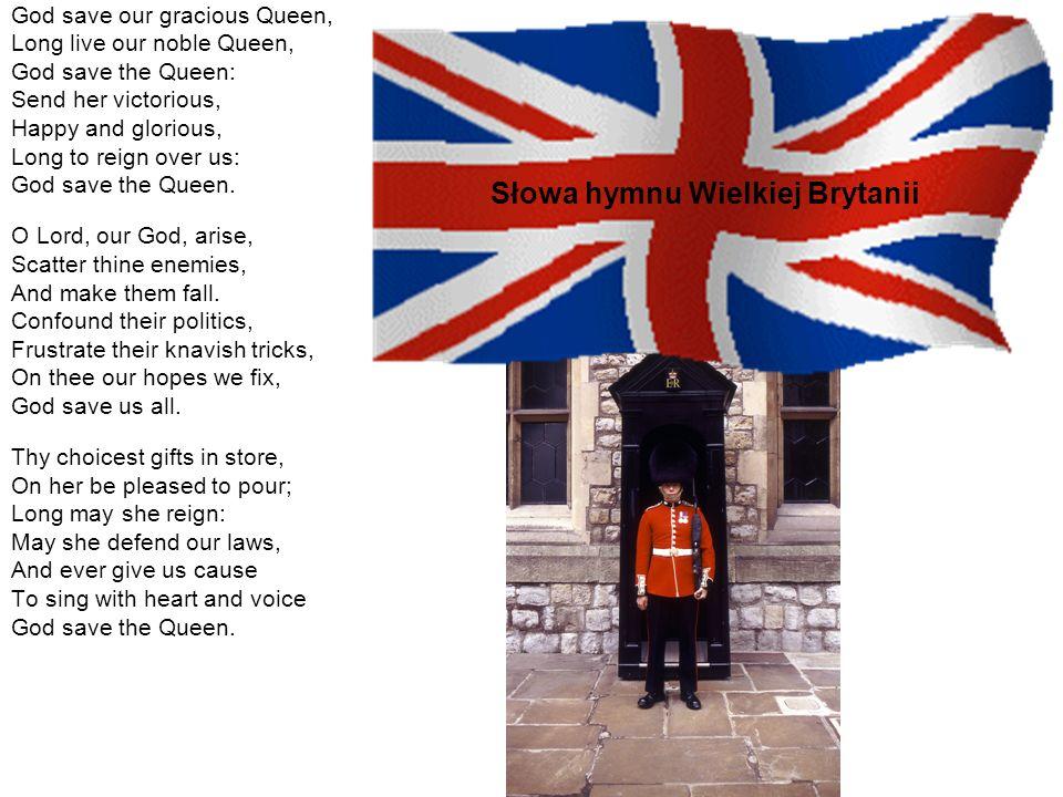 Słowa hymnu Wielkiej Brytanii
