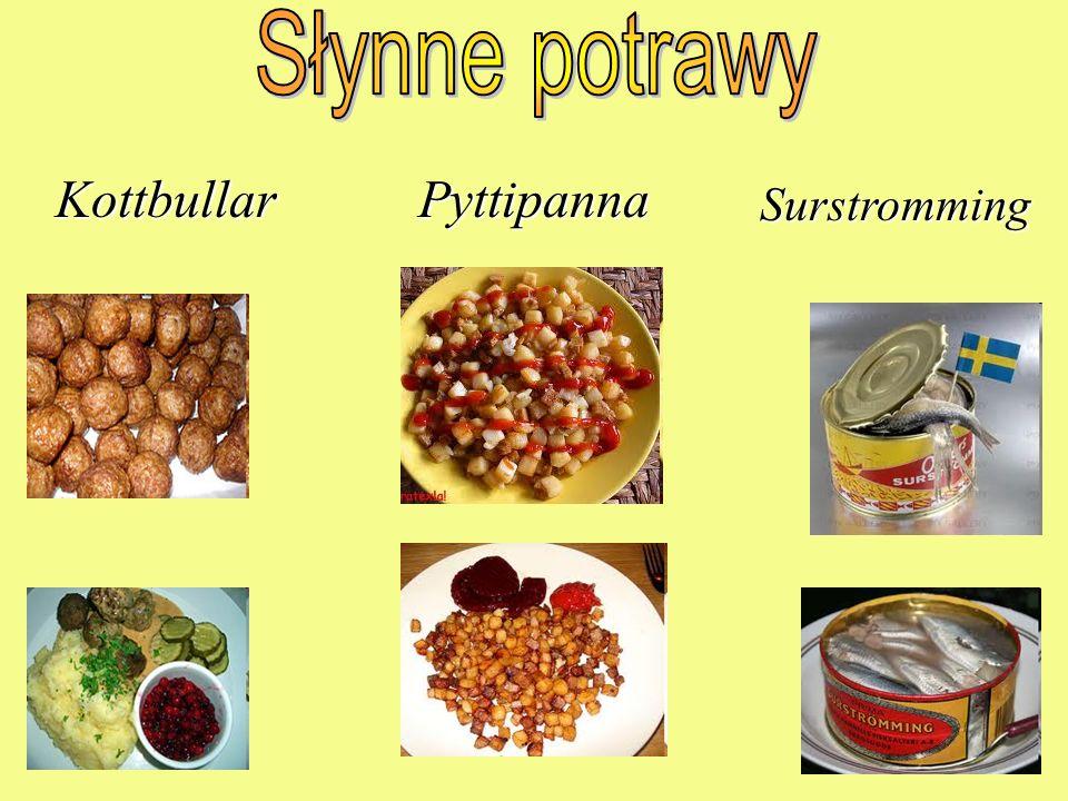 Słynne potrawy Kottbullar Pyttipanna Surstromming