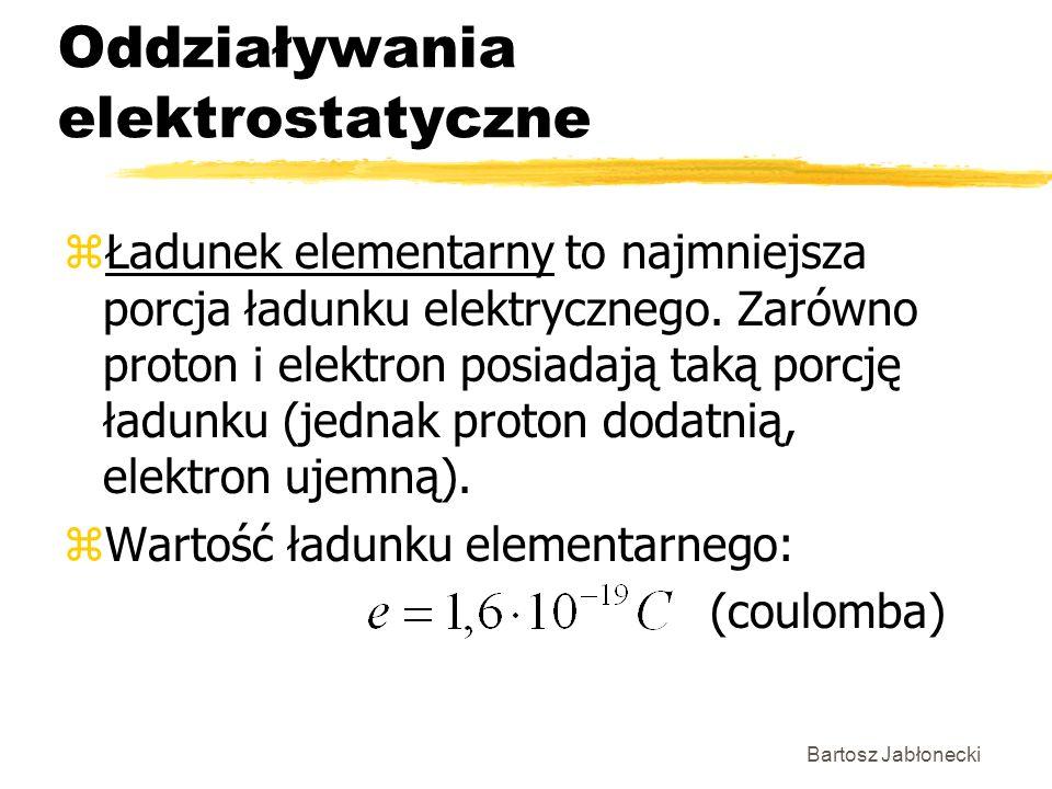 Oddziaływania elektrostatyczne