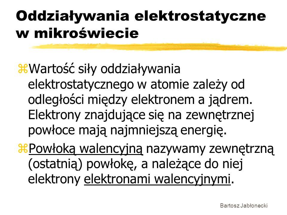 Oddziaływania elektrostatyczne w mikroświecie