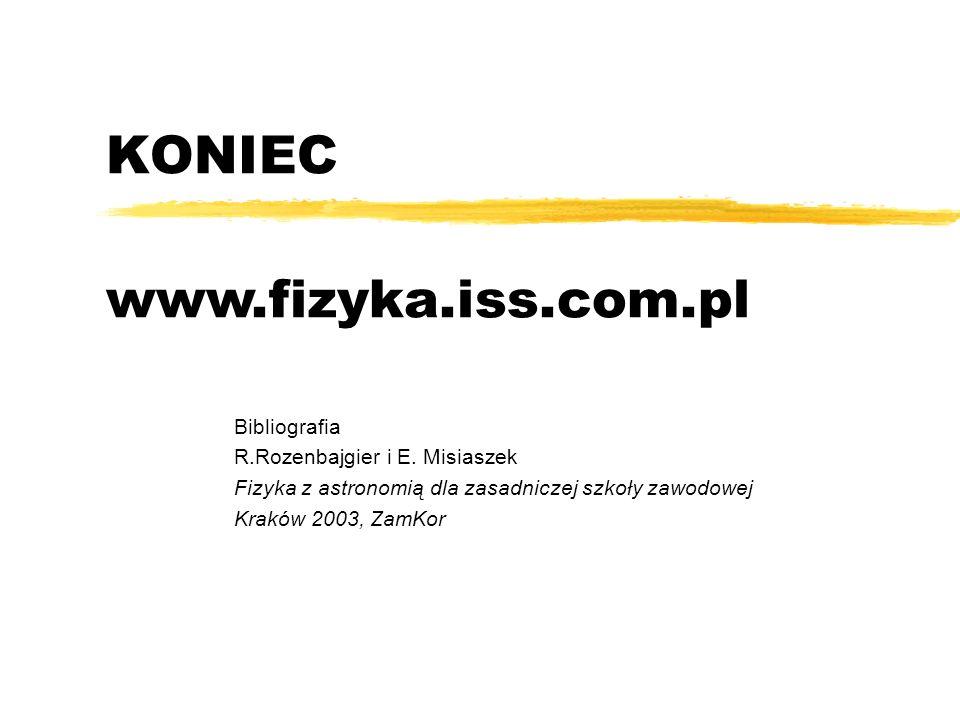 KONIEC www.fizyka.iss.com.pl Bibliografia