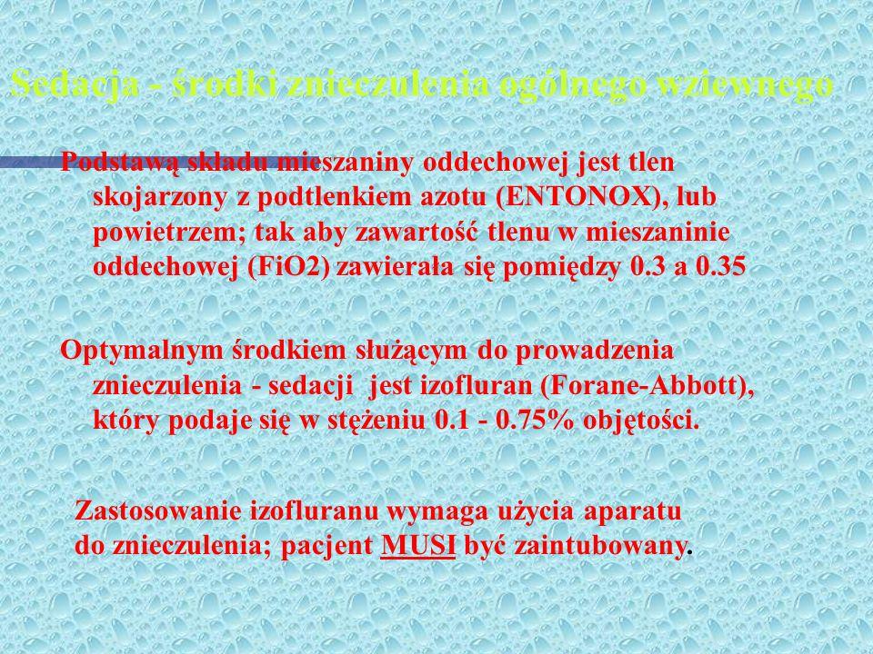 Sedacja - środki znieczulenia ogólnego wziewnego