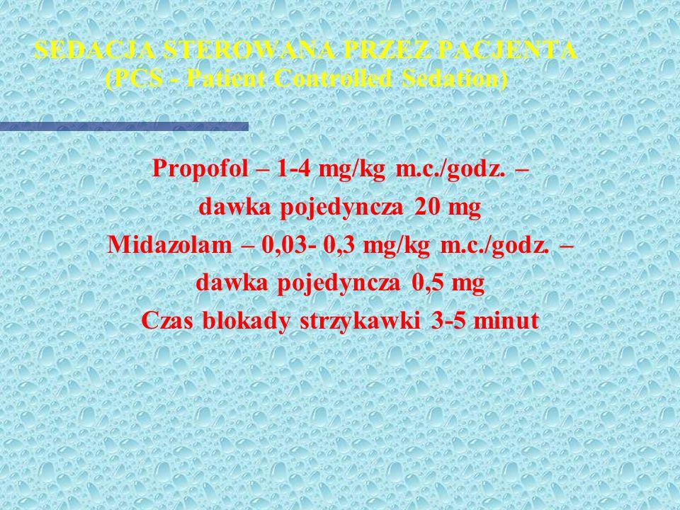 SEDACJA STEROWANA PRZEZ PACJENTA (PCS - Patient Controlled Sedation)