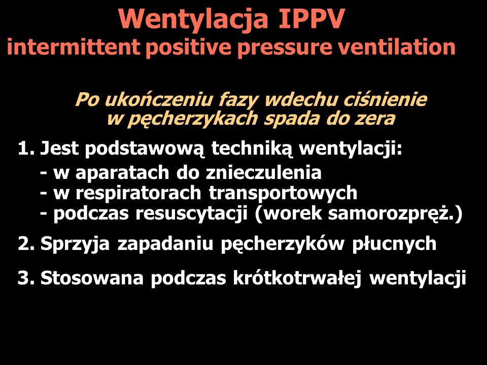 Wentylacja IPPV intermittent positive pressure ventilation