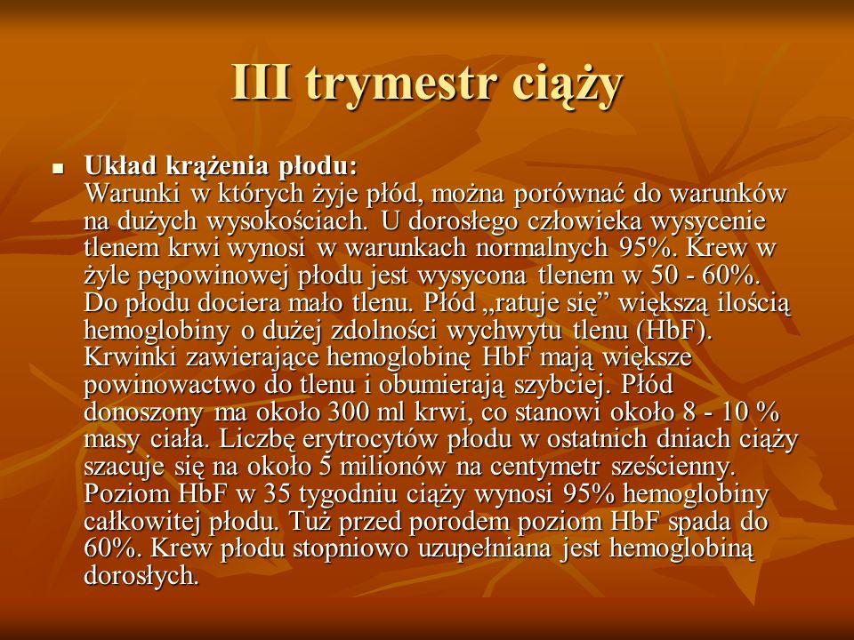 III trymestr ciąży