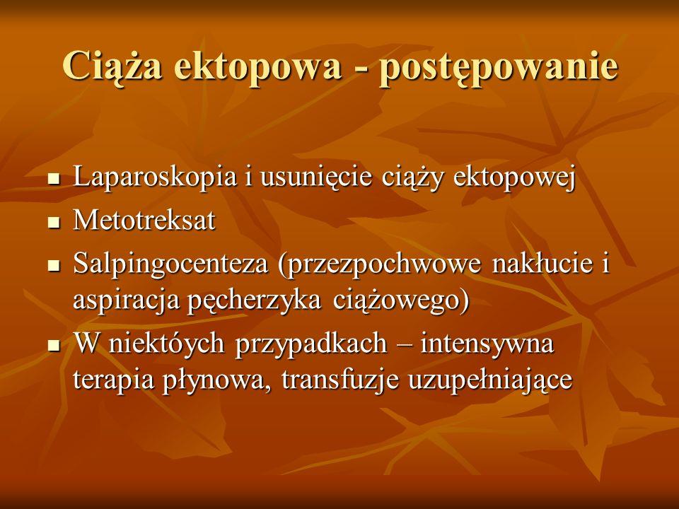 Ciąża ektopowa - postępowanie