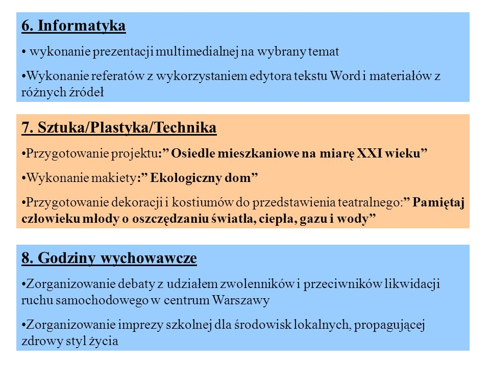 7. Sztuka/Plastyka/Technika