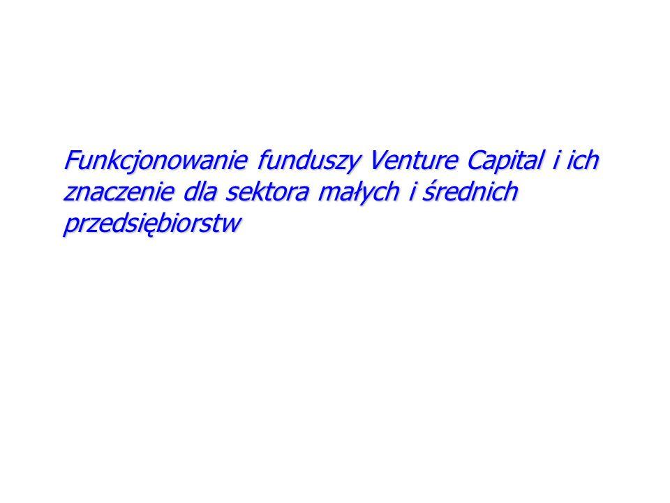 Funkcjonowanie funduszy Venture Capital i ich znaczenie dla sektora małych i średnich przedsiębiorstw