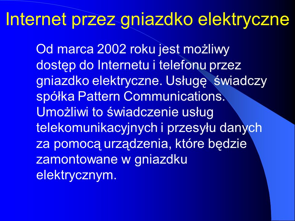 Internet przez gniazdko elektryczne