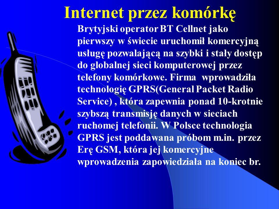 Internet przez komórkę