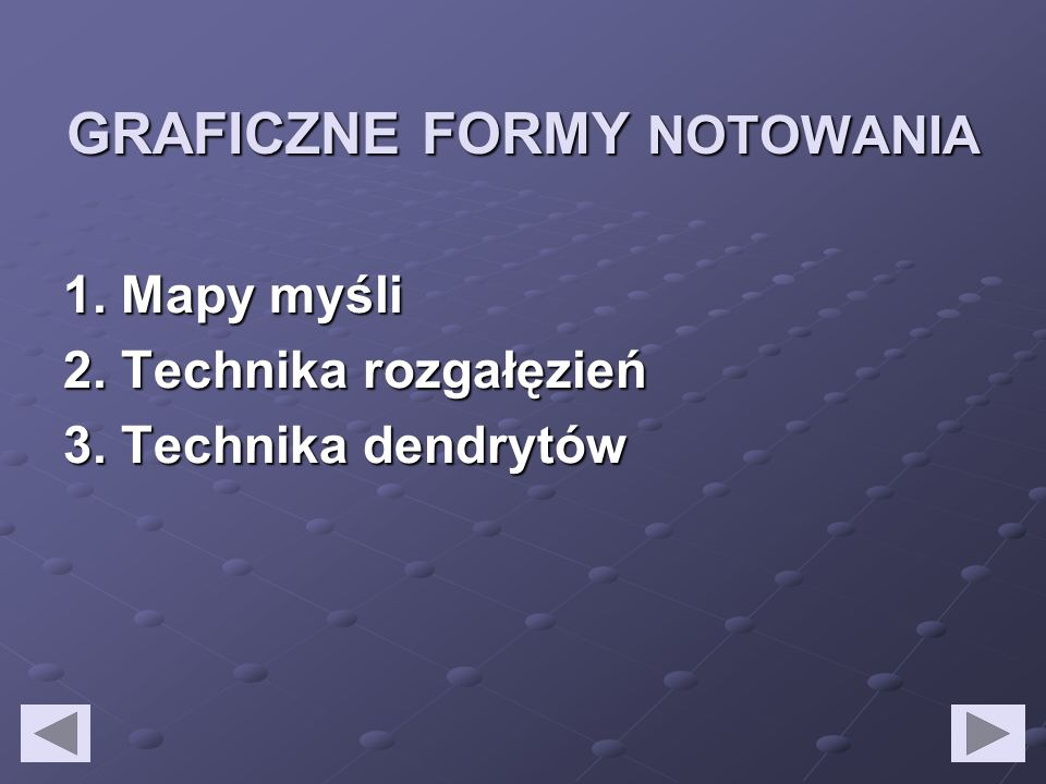 GRAFICZNE FORMY NOTOWANIA