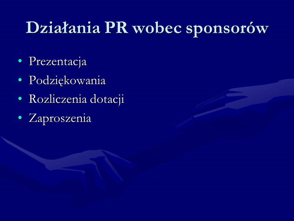 Działania PR wobec sponsorów