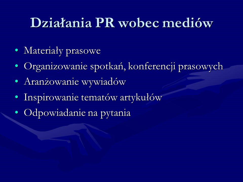 Działania PR wobec mediów