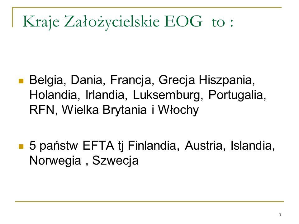 Kraje Założycielskie EOG to :