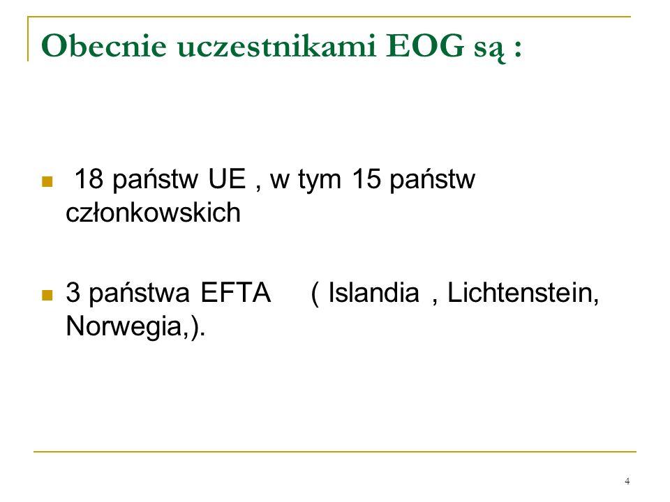 Obecnie uczestnikami EOG są :