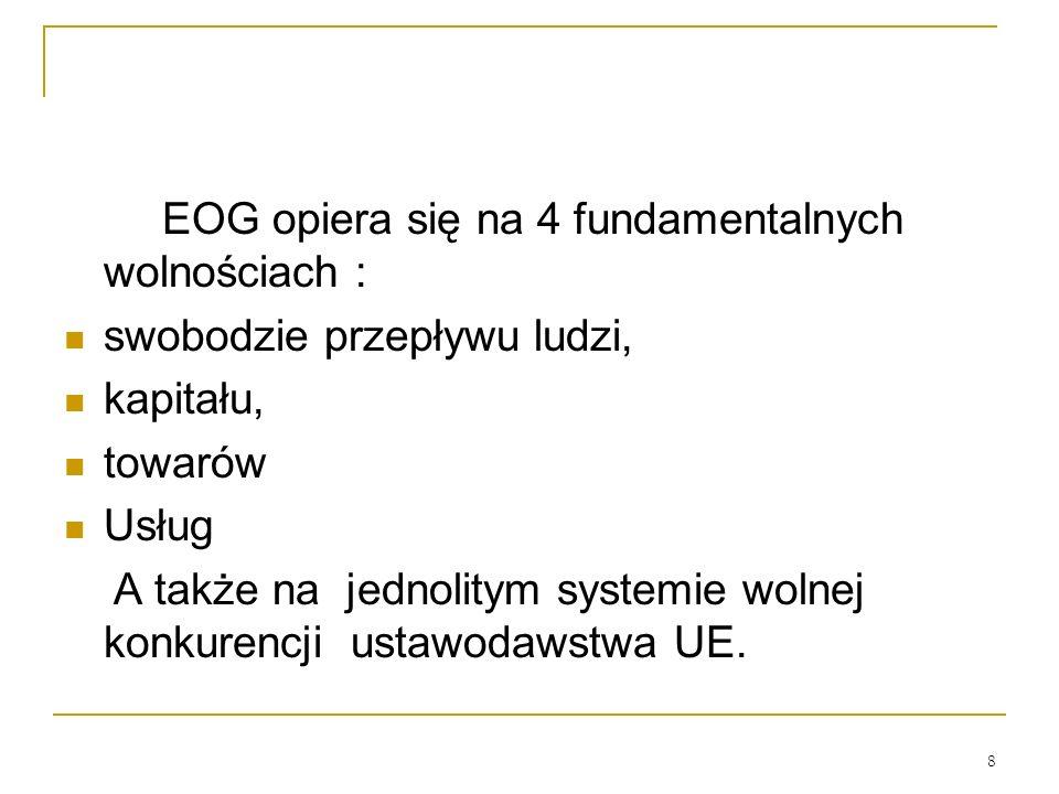 EOG opiera się na 4 fundamentalnych wolnościach :