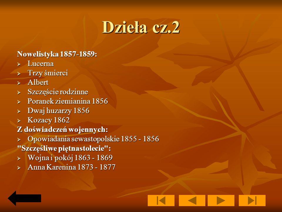 Dzieła cz.2 Nowelistyka 1857-1859: Lucerna Trzy śmierci Albert