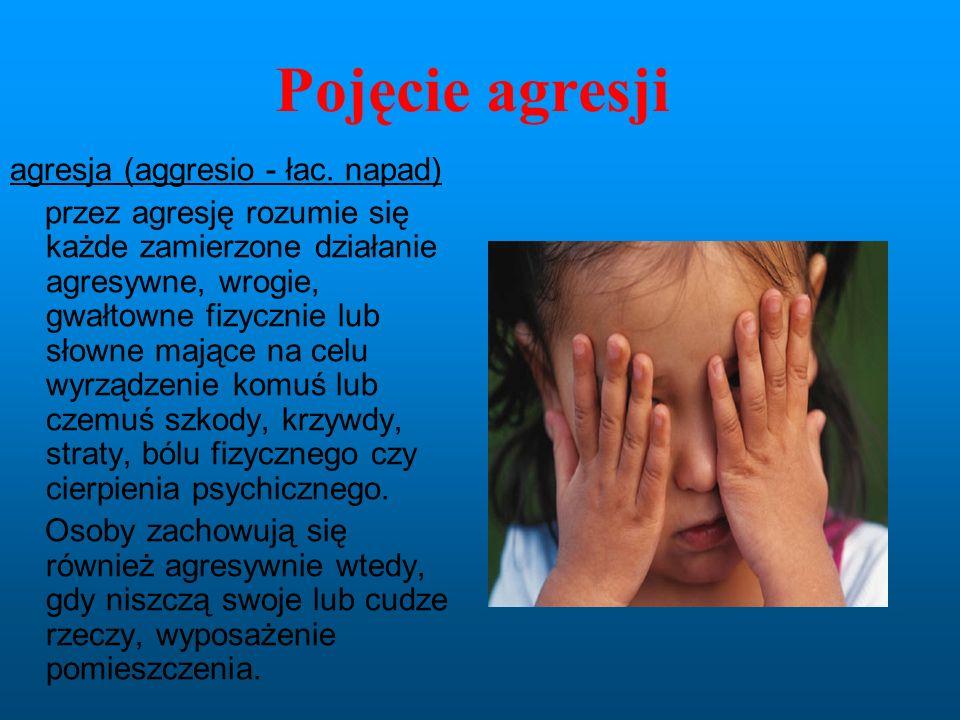 Pojęcie agresji agresja (aggresio - łac. napad)