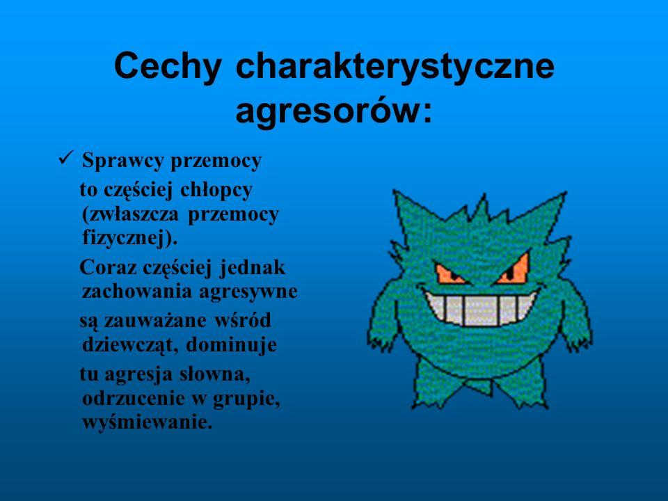 Cechy charakterystyczne agresorów: