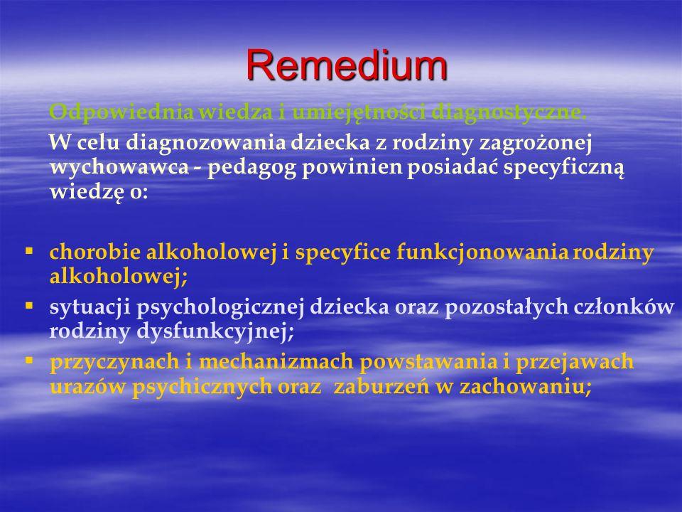 Remedium Odpowiednia wiedza i umiejętności diagnostyczne.