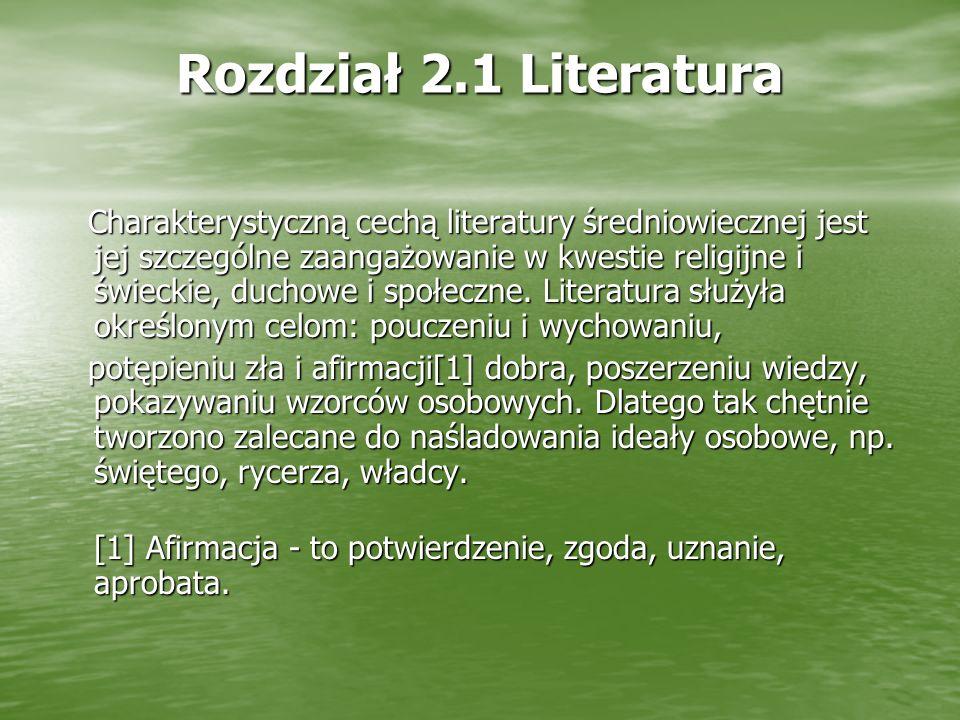 Rozdział 2.1 Literatura