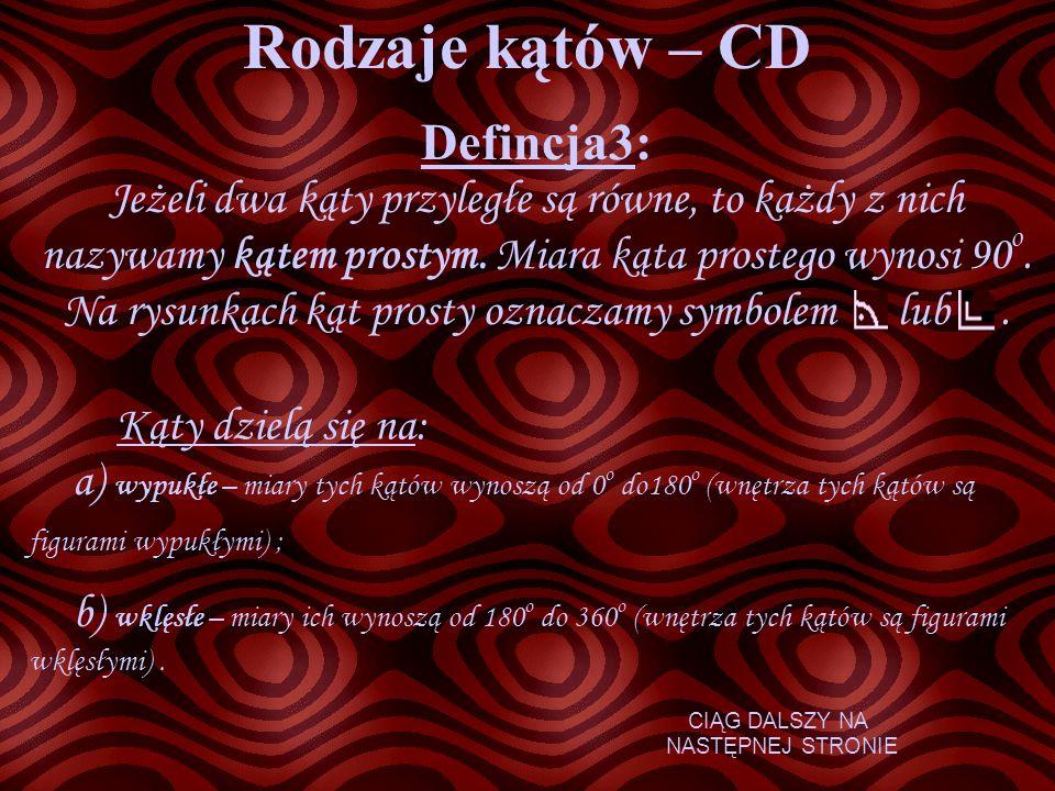 Rodzaje kątów – CD Defincja3: