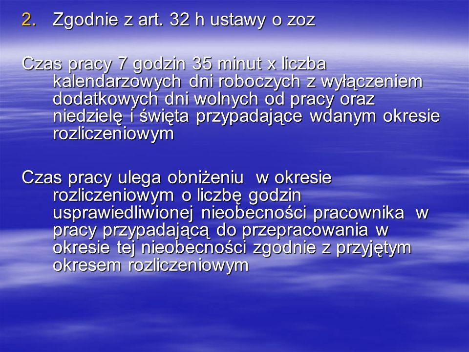 Zgodnie z art. 32 h ustawy o zoz