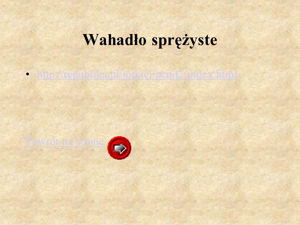 Wahadło sprężyste http://republika.pl/jotkiel/pend2/index.html