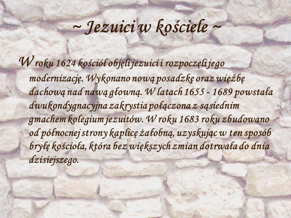 ~ Jezuici w kościele ~