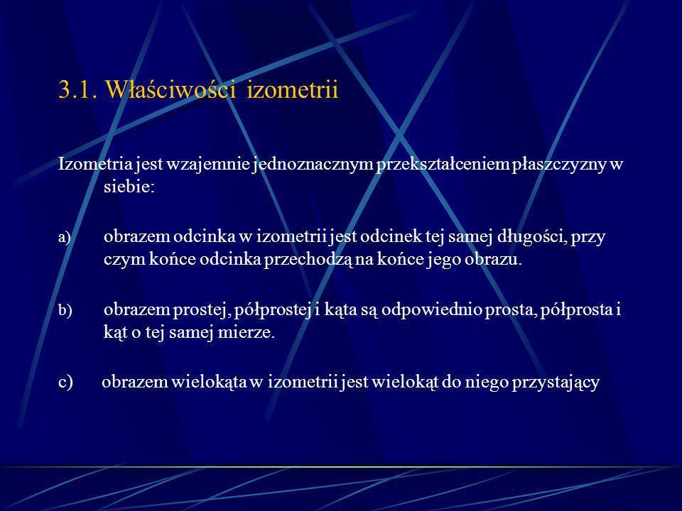 3.1. Właściwości izometrii