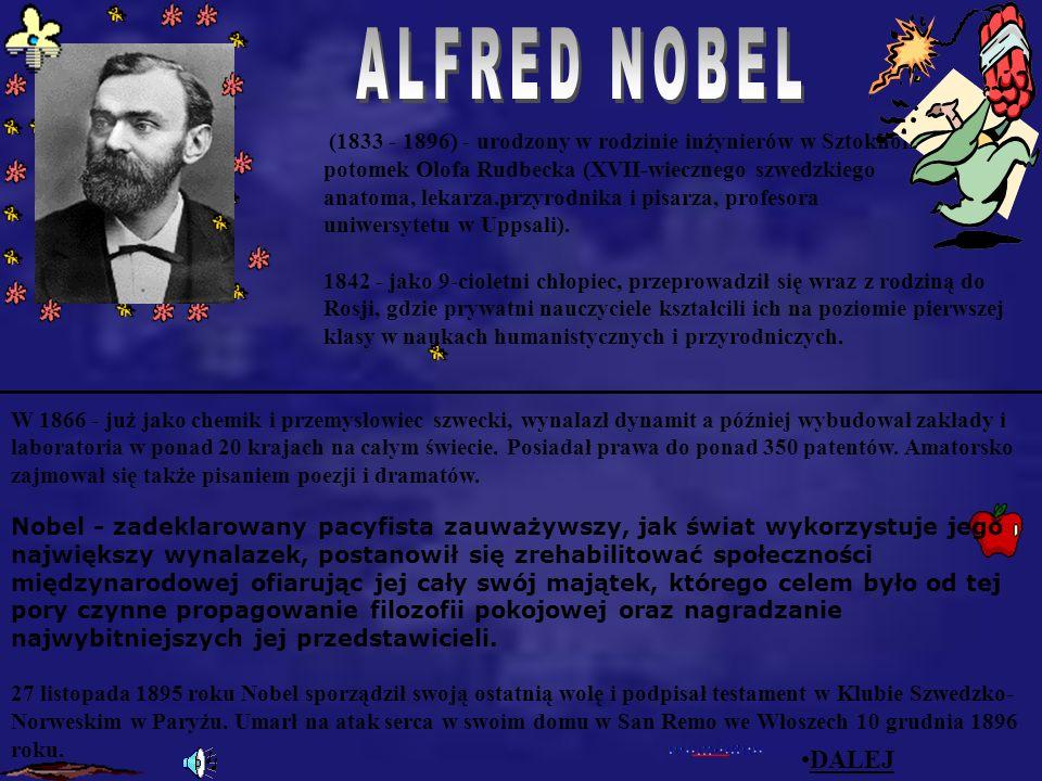 ALFRED NOBEL Alfred Nobel