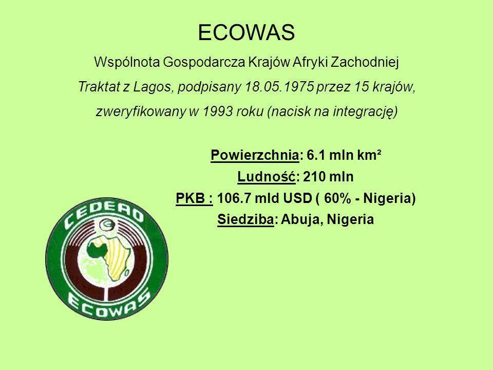 PKB : 106.7 mld USD ( 60% - Nigeria) Siedziba: Abuja, Nigeria