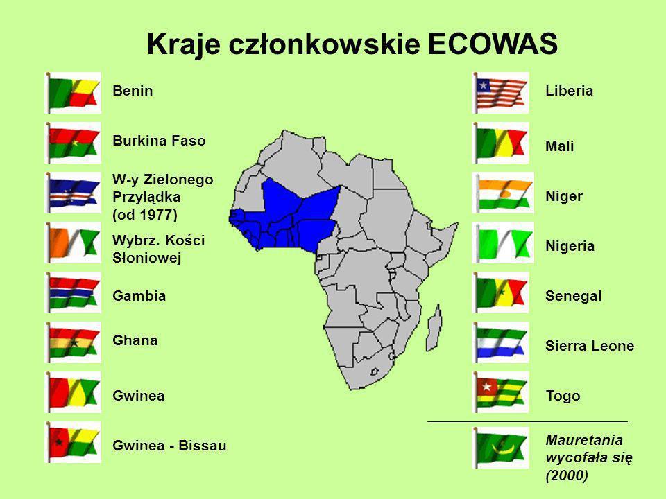 Kraje członkowskie ECOWAS