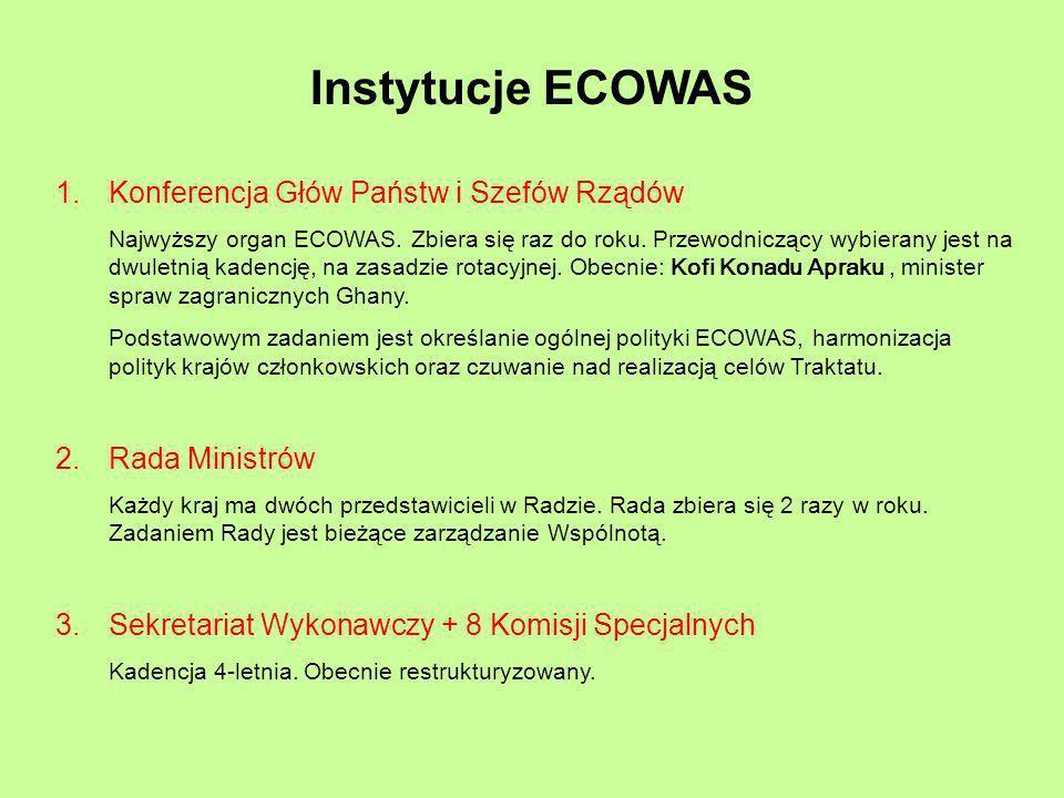 Instytucje ECOWAS Konferencja Głów Państw i Szefów Rządów