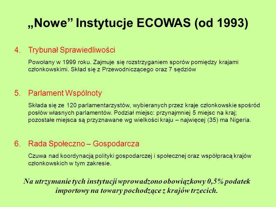 """""""Nowe Instytucje ECOWAS (od 1993)"""