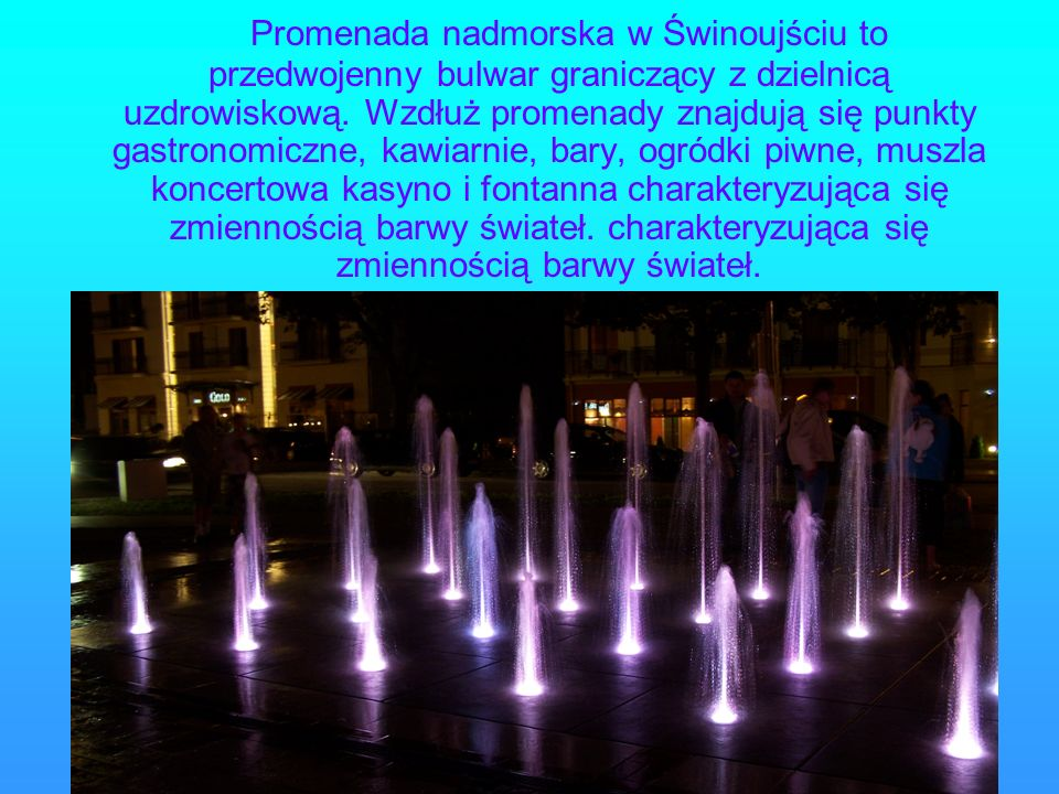 Promenada nadmorska w Świnoujściu to przedwojenny bulwar graniczący z dzielnicą uzdrowiskową.