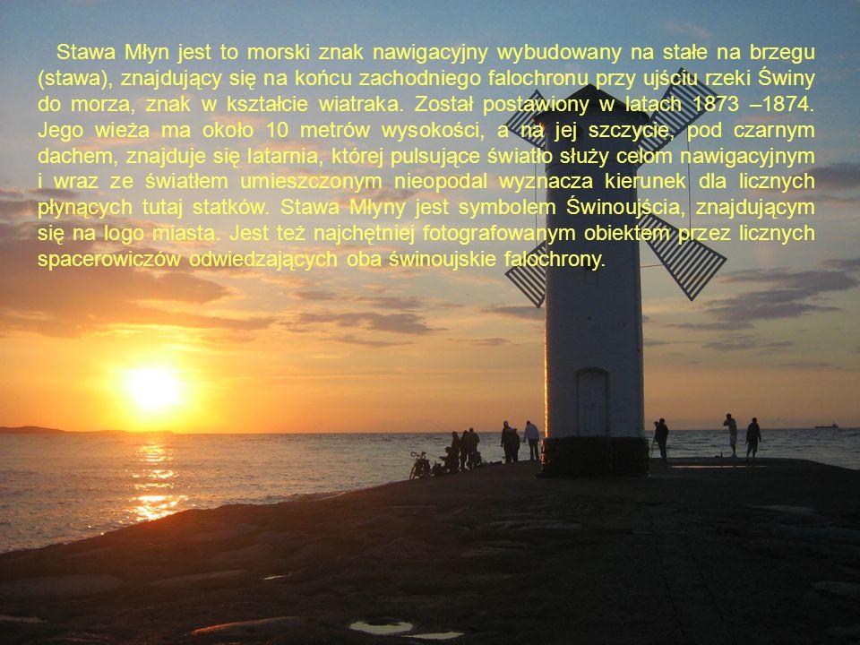 Stawa Młyn jest to morski znak nawigacyjny wybudowany na stałe na brzegu (stawa), znajdujący się na końcu zachodniego falochronu przy ujściu rzeki Świny do morza, znak w kształcie wiatraka.