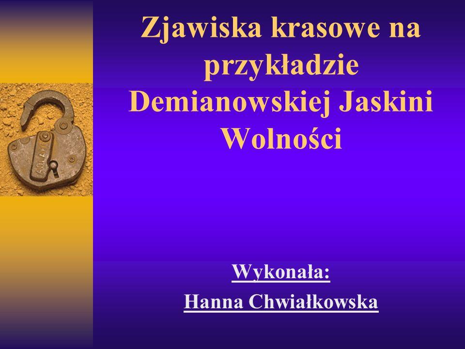Zjawiska krasowe na przykładzie Demianowskiej Jaskini Wolności