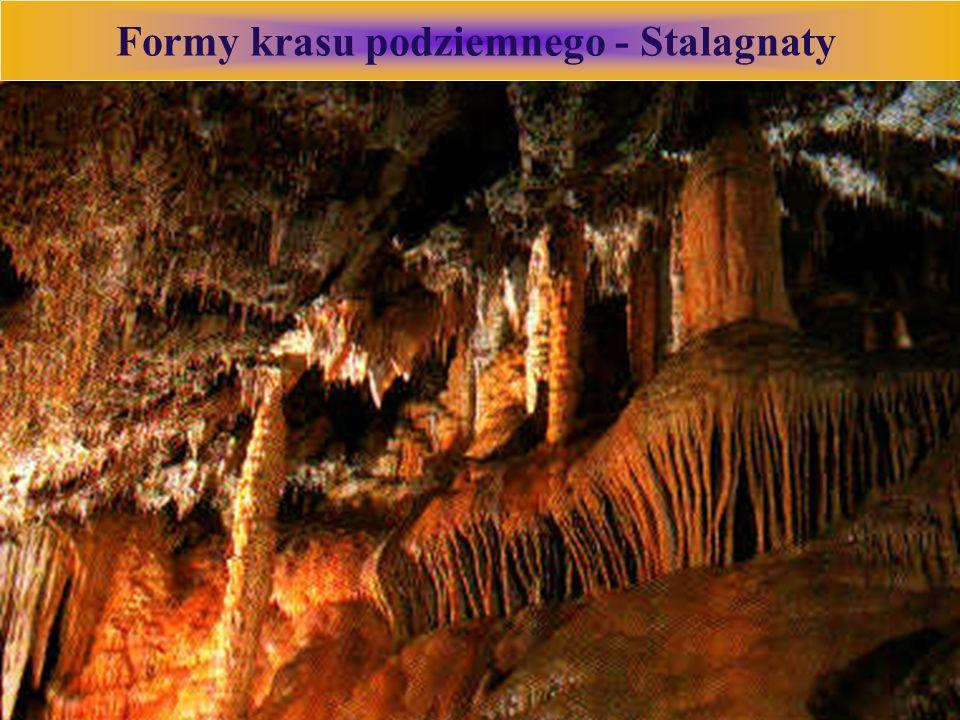 Formy krasu podziemnego - Stalagnaty