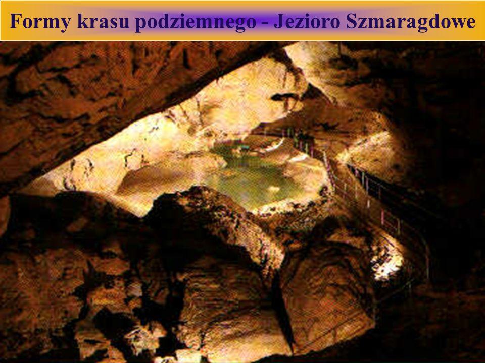 Formy krasu podziemnego - Jezioro Szmaragdowe