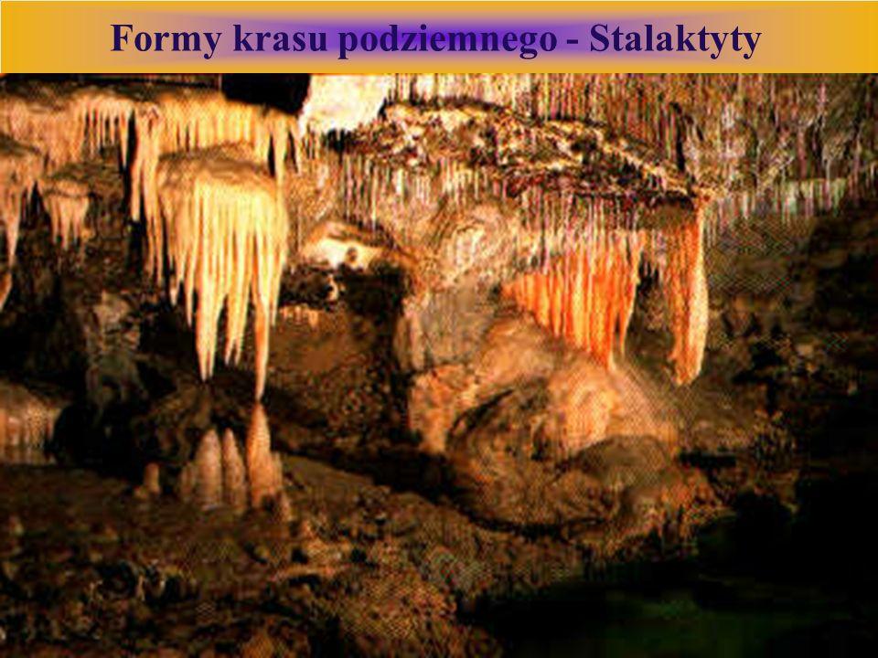 Formy krasu podziemnego - Stalaktyty