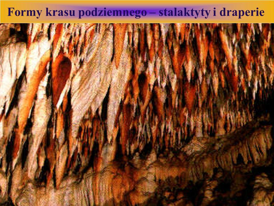 Formy krasu podziemnego – stalaktyty i draperie