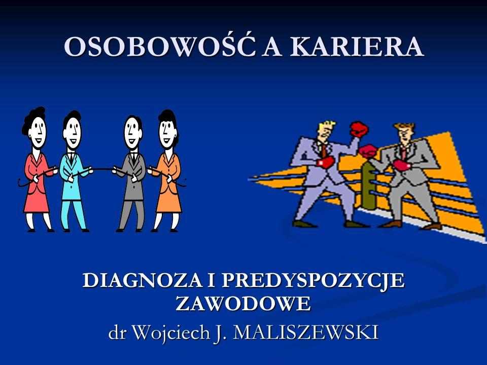 DIAGNOZA I PREDYSPOZYCJE ZAWODOWE dr Wojciech J. MALISZEWSKI